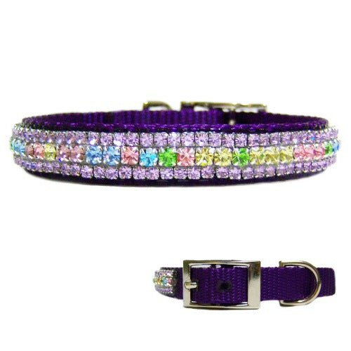 Spring Garden Crystal Pet Collar - For dogs and cats - dog-collar-fancy