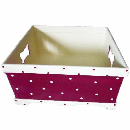 Custom dog toy box square inside view.
