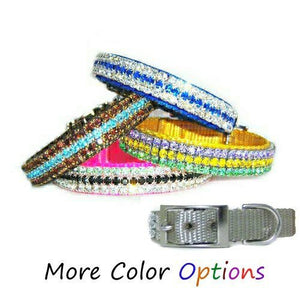Star Diamonds custom crystal pet collar for dogs and cats.