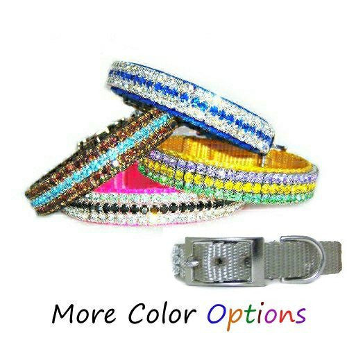 Star Diamonds customizable crystal pet collar for dogs and cats.