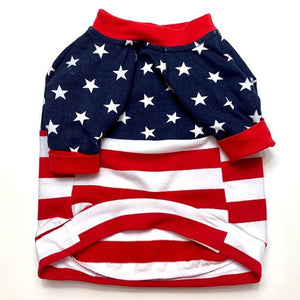Patriotic Stripes Dog Shirt for small to large dogs