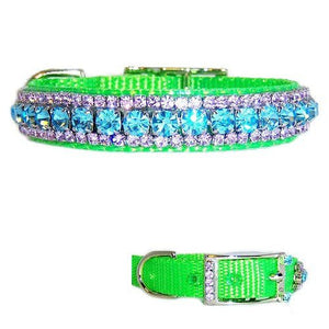 Sweet Taffy Crystal Pet Collar - dog-collar-fancy