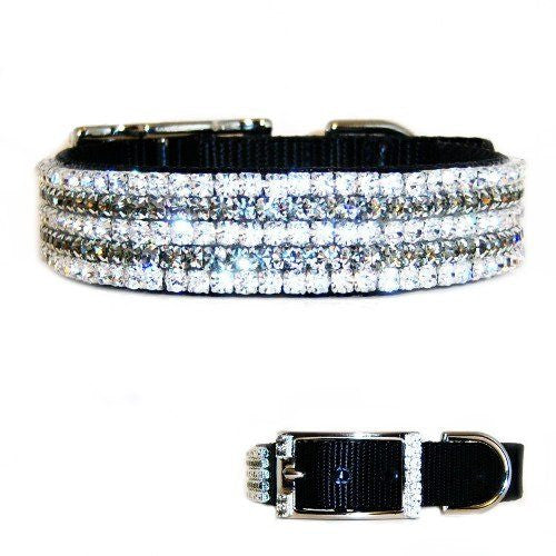The Finer Things Large Crystal Dog Collar - For medium to large dogs - dog-collar-fancy