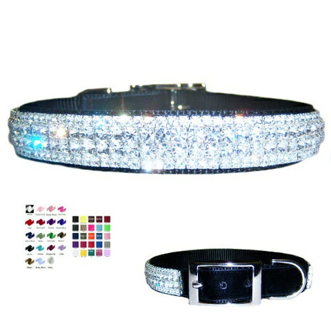The Superstar Velvet Bling Dog Collar - For medium to large dogs - dog-collar-fancy