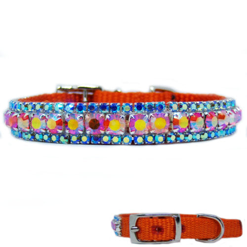 The Tropics Crystal Pet Collar - For small dogs and cats - dog-collar-fancy