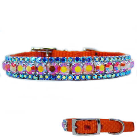 The Tropics Crystal Pet Collar - dog-collar-fancy
