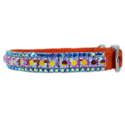 The Tropics Crystal Pet Collar side view