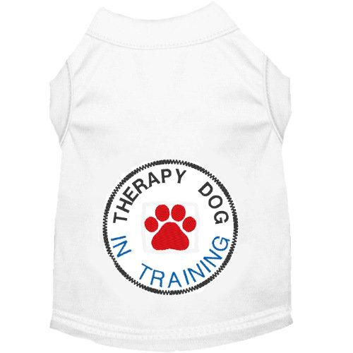 Dog shirt for therapy dogs in training