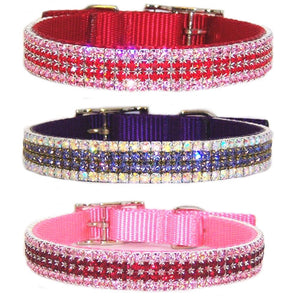 3/4 inch wide custom crystal dog collar for medium to large dogs