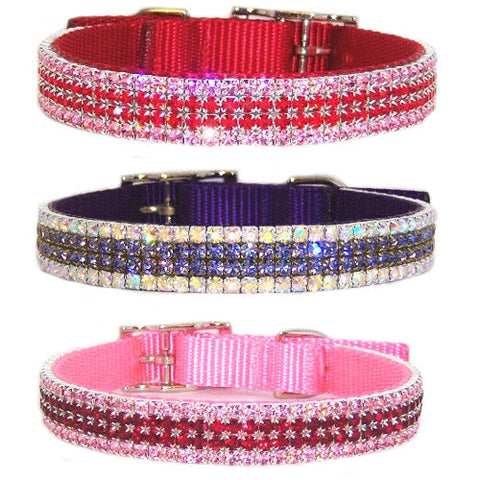 3/4 Inch Custom Jeweled Pet Collar - For dogs and cats - dog-collar-fancy