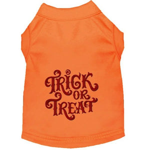 Halloween Dog Shirt - Trick Or Treat - Small to Medium Dogs - dog-collar-fancy