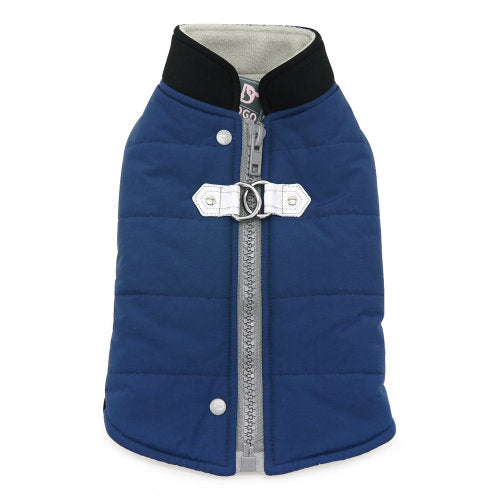 Navy Runner Dog Coat