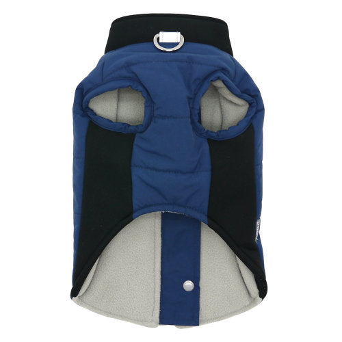 Navy Runner Dog Coat view