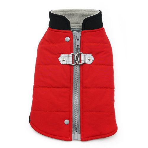 Urban Runner Dog Coat in Red - Dog Collar Fancy - dog-collar-fancy