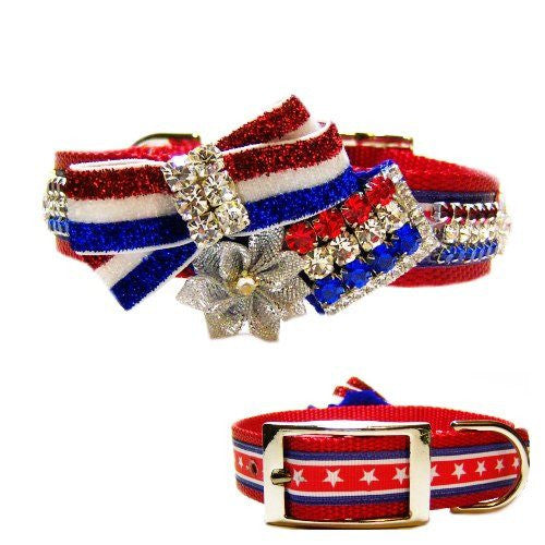 USA Proud Patriotic Dog Collar - For medium to large dogs - dog-collar-fancy