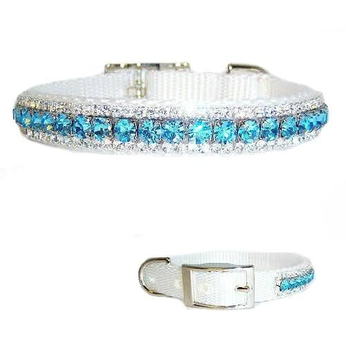 This beautiful sparkly crystal pet collar is sure to get attention!
