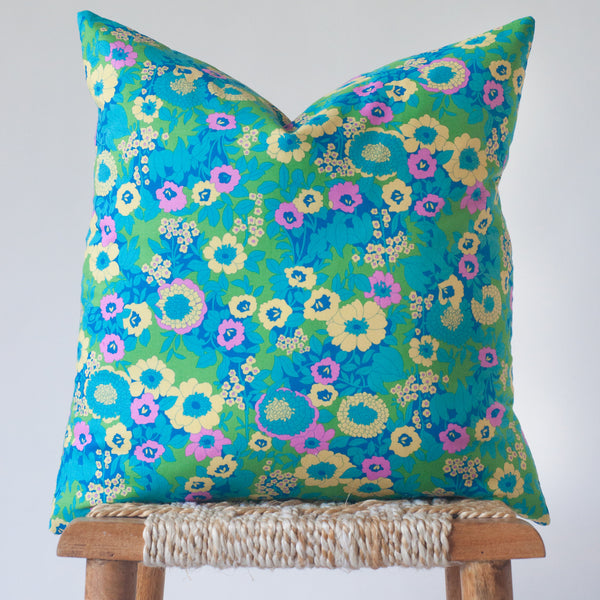 Flower Power: Retro Floral Throw Pillow Cover