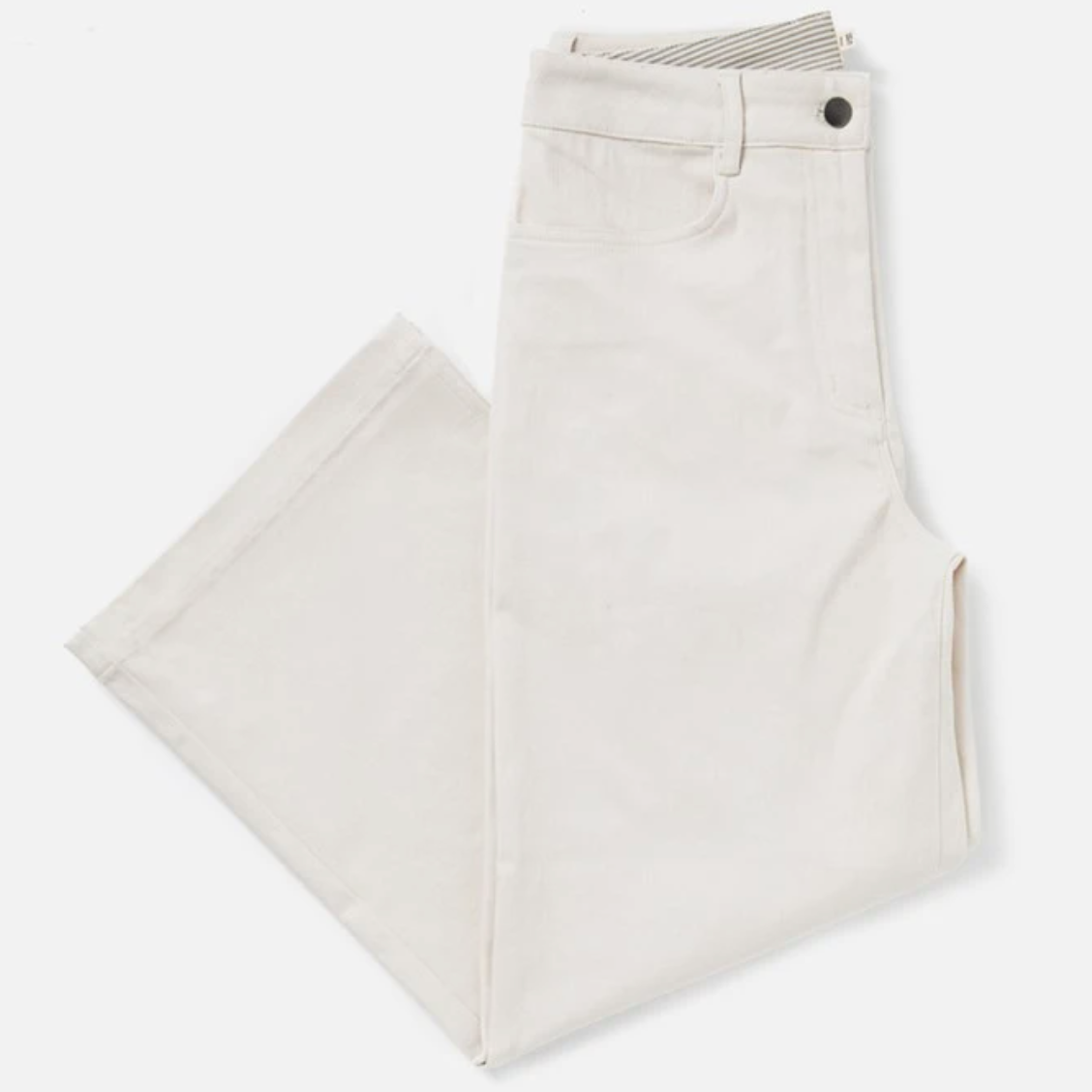 High Waist Cotton Trousers
