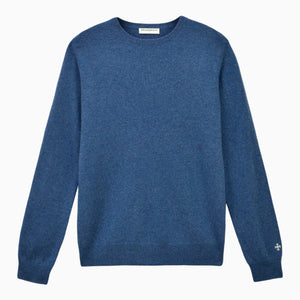Dust Blue Cashmere Crewneck Sweater