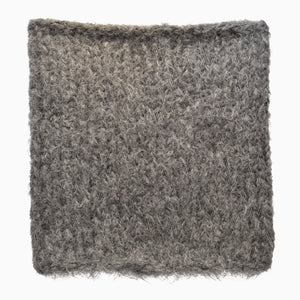 Charcoal Grey Fuzzy Hand-Knit Snood