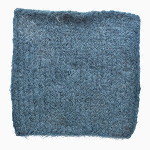 Teal Fuzzy Hand-Knit Snood
