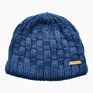Bright Blue Box Knit Kids' Beanie