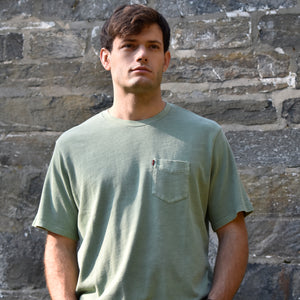 Hedge Green Garment Dyed Pocket Tee