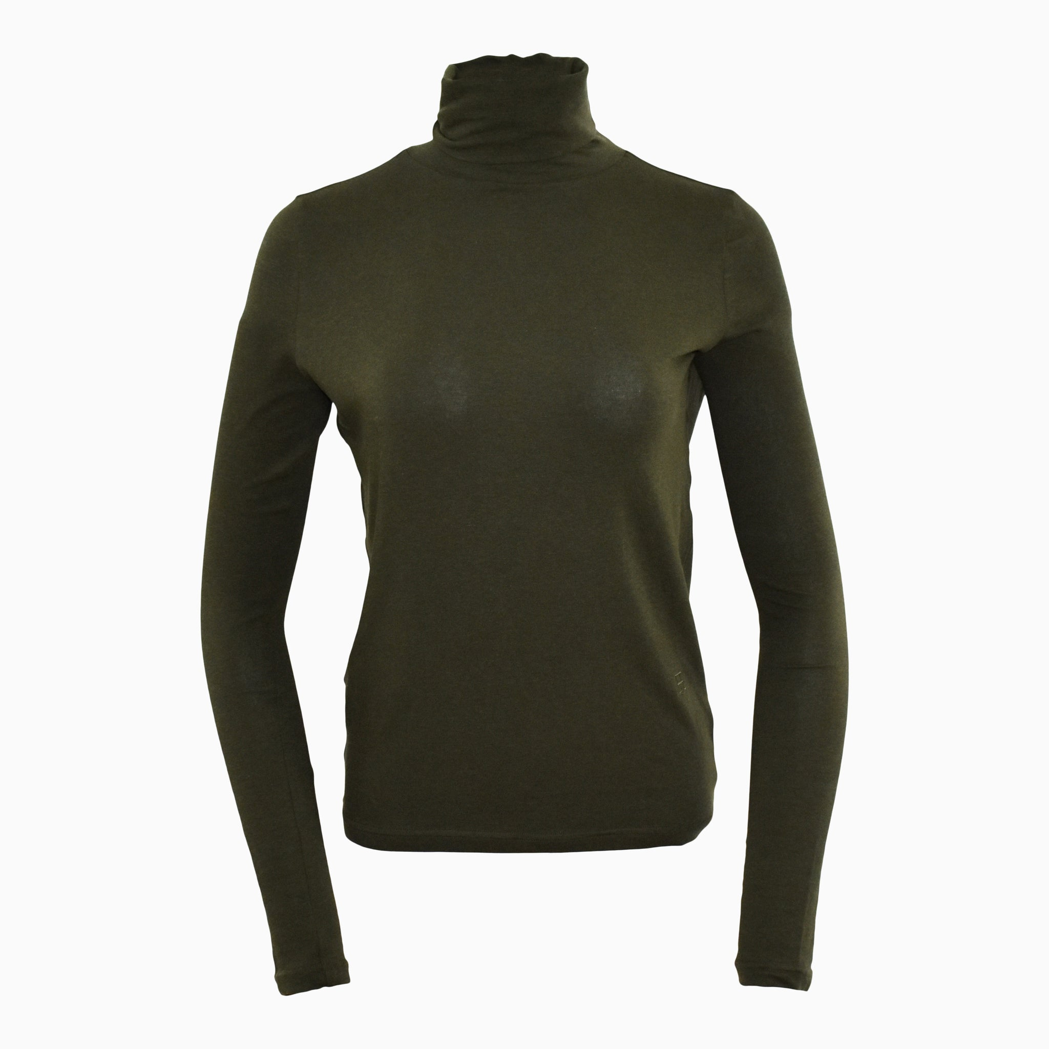 Essential Roll Neck - Olive