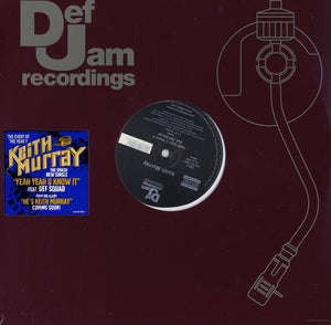 "Keith Murray - Yeah Yeah U Know It (Single) 12"" Vinyl"