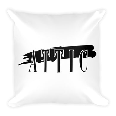 Attic Records Square Pillow