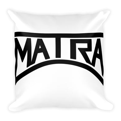 Matra Records Square Pillow