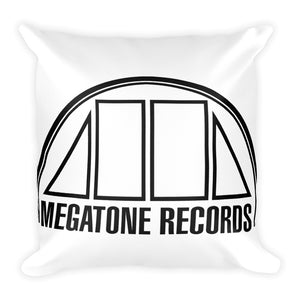 Megatone Records Square Pillow