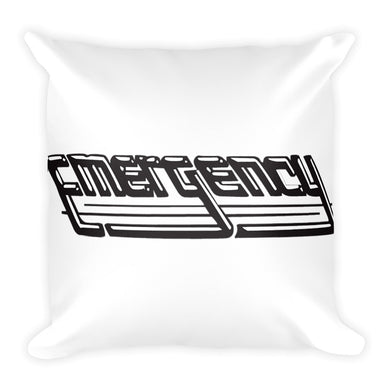 Emergency Records Square Pillow