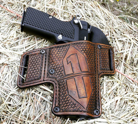 Browning Hi-Power in handmade leather holster