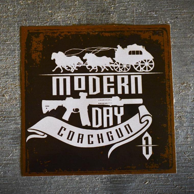 Modern Day Coachgun Old West Decal Sticker