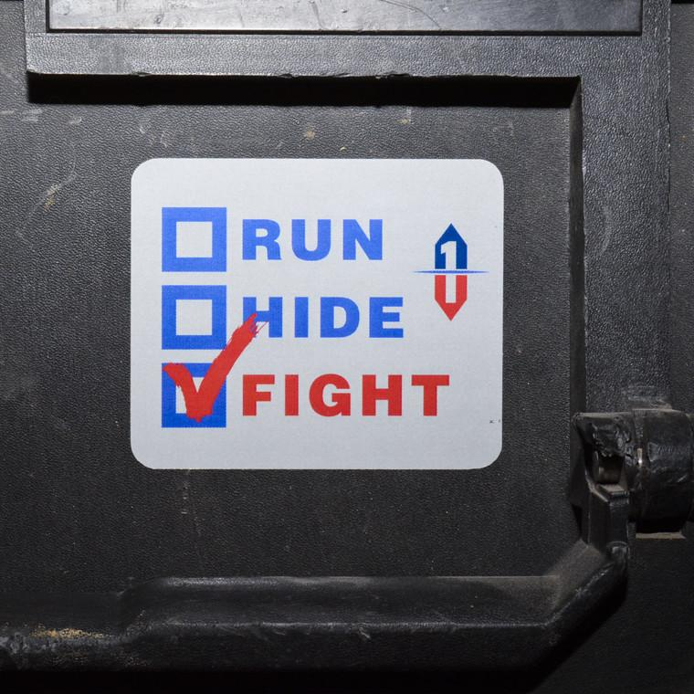 Run Hide Fight Decal Sticker
