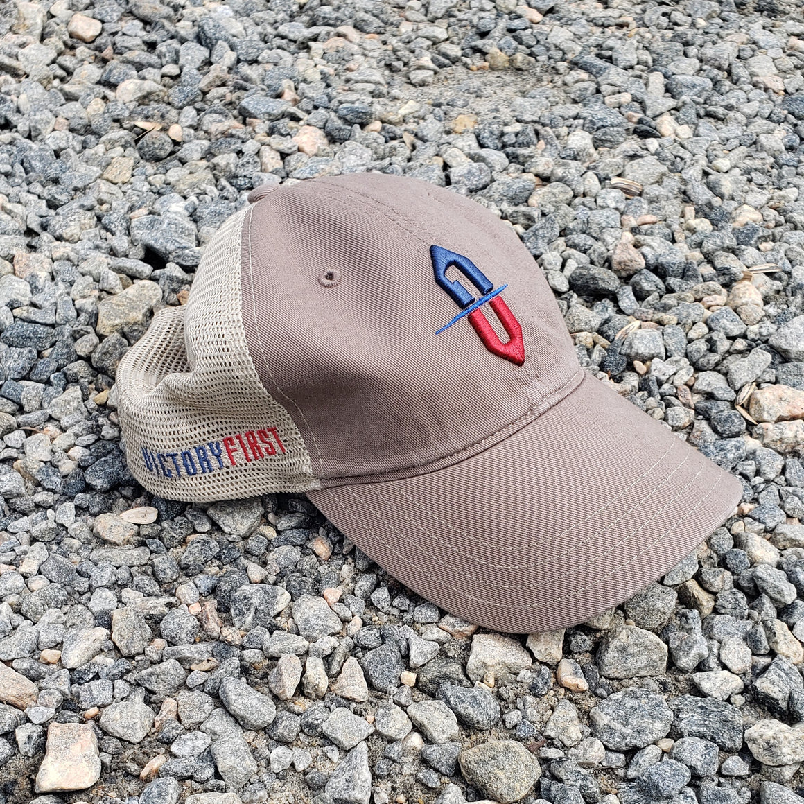 Victory First unstructured trucker hat