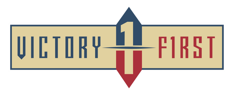 Victory First Red & Blue Decal