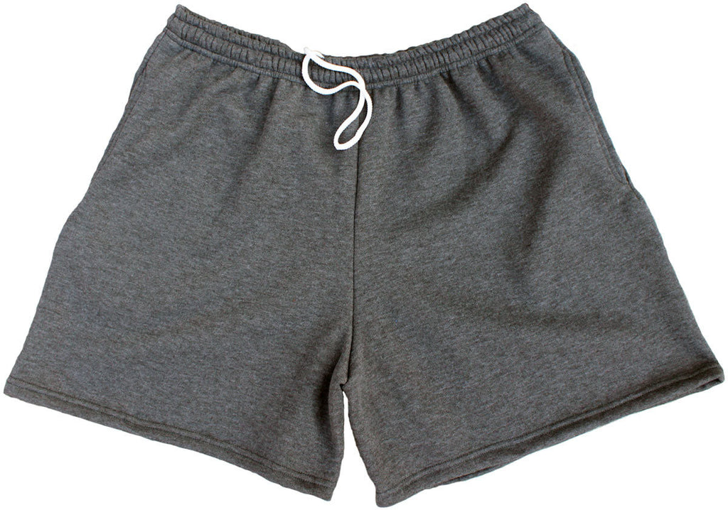 black sweat shorts men