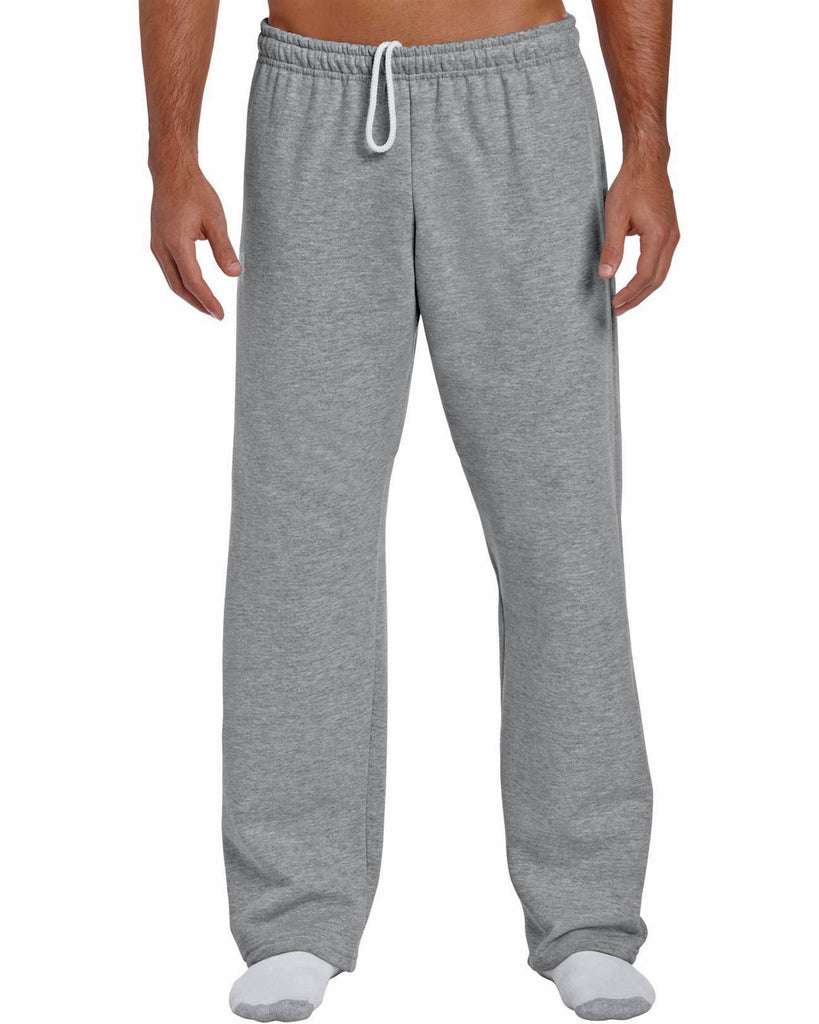 men 39 s open bottom non elastic ankles sweatpants made in usa swami sportswear. Black Bedroom Furniture Sets. Home Design Ideas