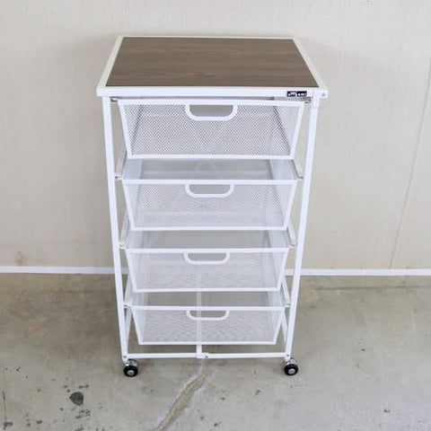 4 Tier Drawer with wood shelf   DFS-04