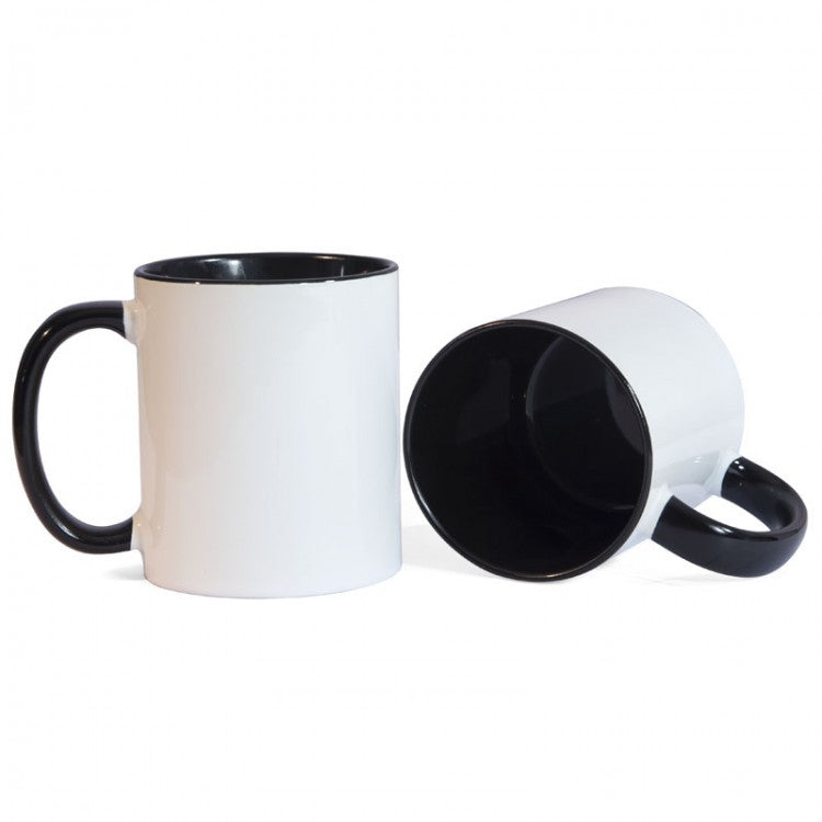 Black Two Tone Sublimation Printed Mug