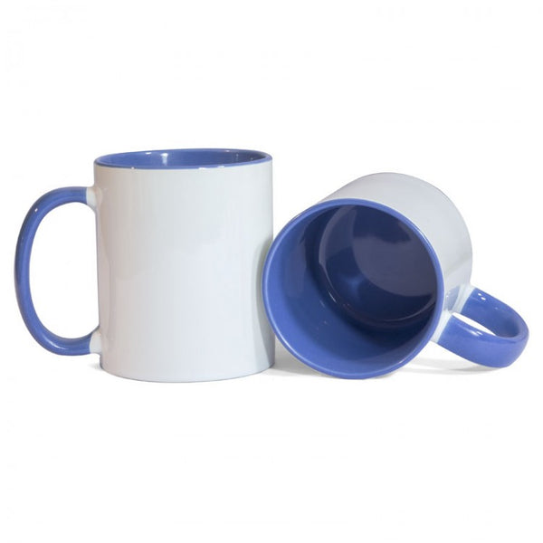 Blue Two Tone Sublimation Printed Mug