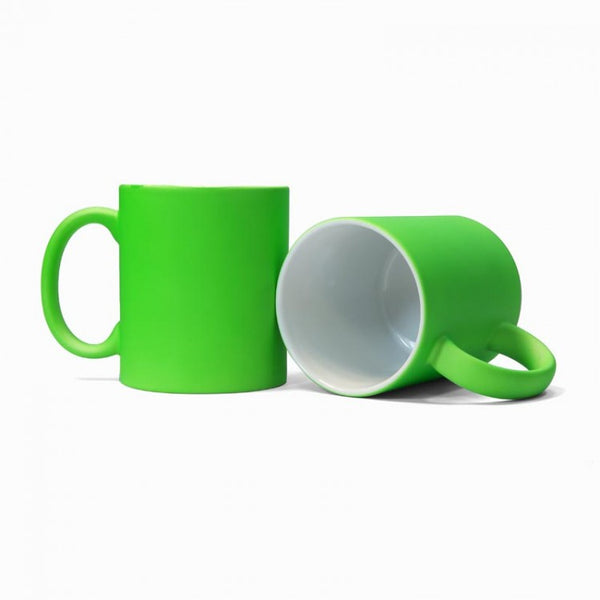 Green Neon Sublimation Printed Mug