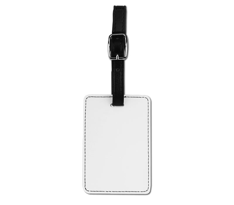 Faux Leather Luggage Tag