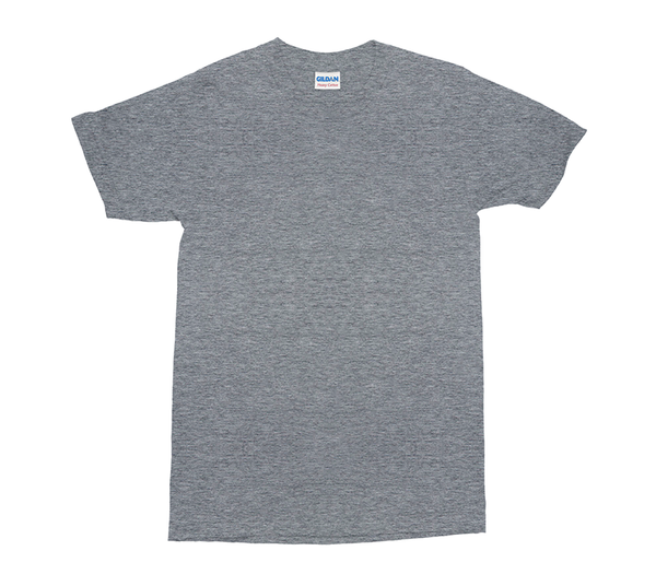 Graphite Heather Gildan Heavy Cotton Adult T-Shirt (GD005)