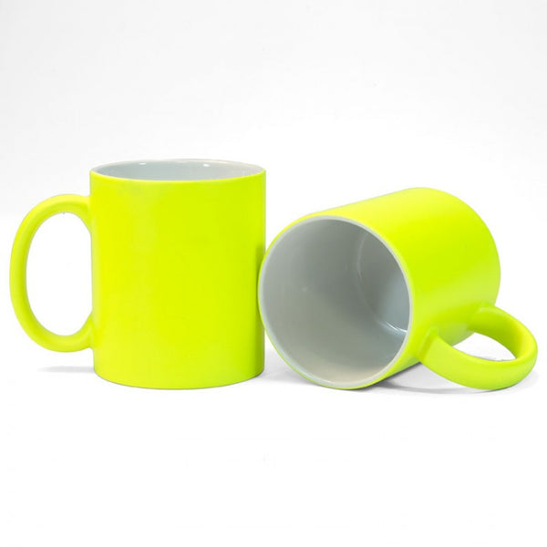Yellow Neon Sublimation Printed Mug