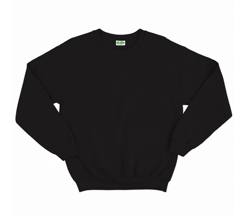 Jet Black AWDis Adult Sweatshirt
