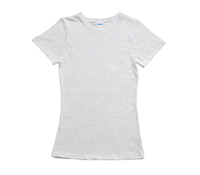 Ash Grey Gildan Heavy Cotton Ladies T-Shirt