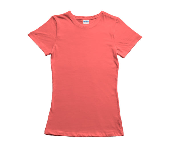 Coral Gildan Heavy Cotton Ladies T-Shirt